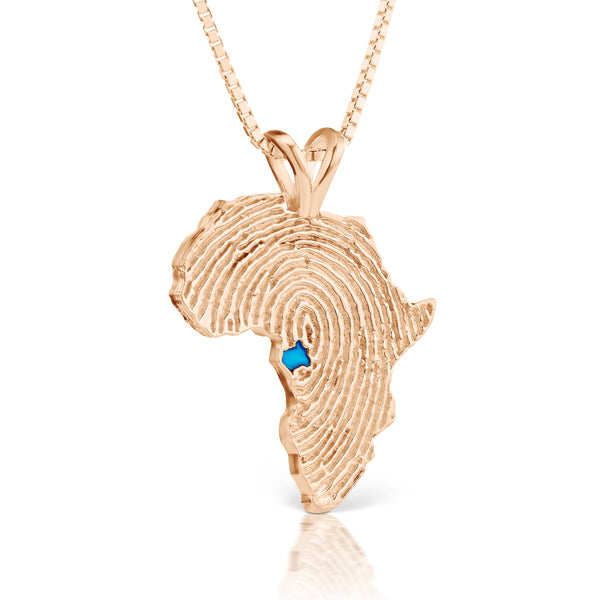 Gabon Heirloom Pendant - 14K Rose Gold 34mm