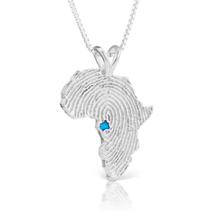 Gabon Heirloom Pendant - Sterling Silver 43mm