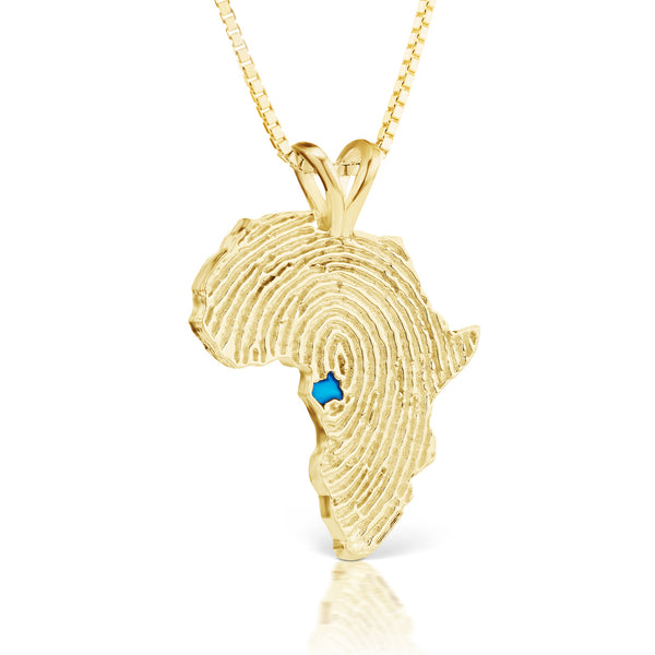 Gabon Heirloom Pendant - 14K Yellow Gold 34mm