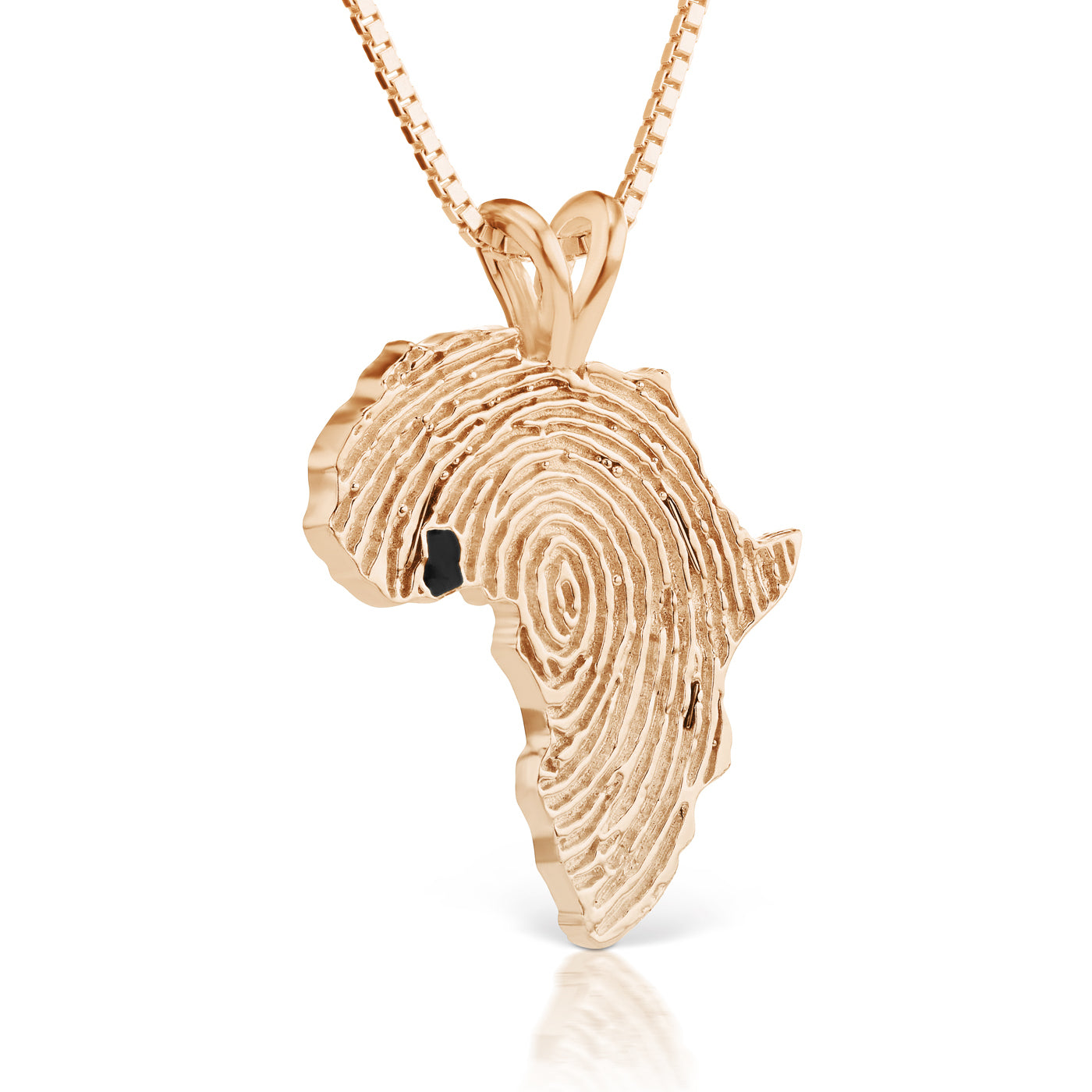 Ghana Heirloom Pendant - 14K Rose Gold 34mm