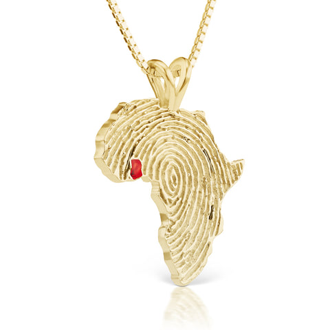 Ghana Heirloom Pendant - 14K Yellow Gold 34mm
