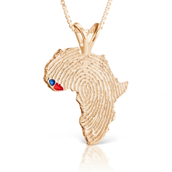 Sierra Leone and Liberia Heirloom Pendant - 14K Rose Gold 43mm