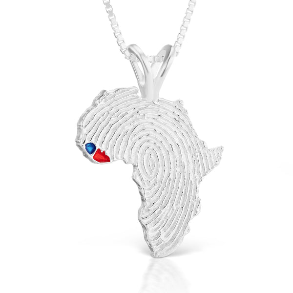Sierra Leone and Liberia Heirloom Pendant - Silver 43mm