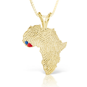 Sierra Leone and Liberia Heirloom Pendant - 14K Yellow Gold 43mm