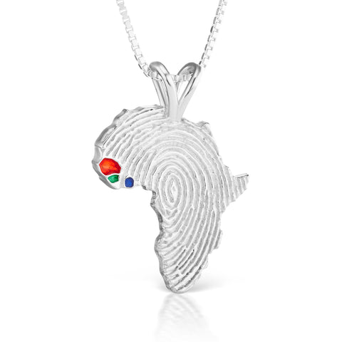 Senegal, Guinea-Bissau and Sierra Leone Heirloom Pendant - Silver 43mm