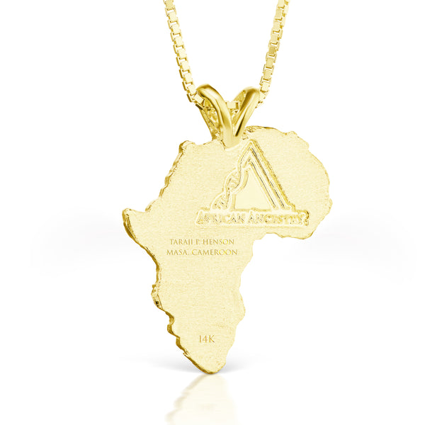Guinea-Bissau and Sierra Leone Heirloom Pendant - 14K Yellow Gold 43mm