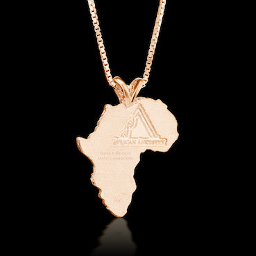 Cameroon Heirloom Pendant - 14K Rose Gold 43mm