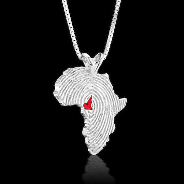 Cameroon Heirloom Pendant - Sterling Silver 34mm