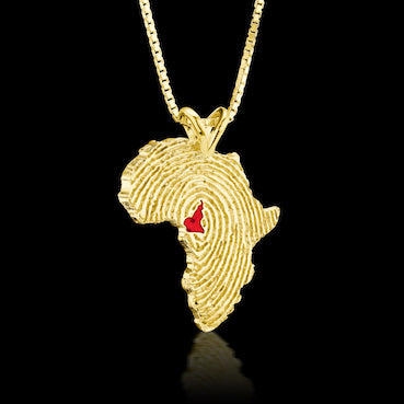 Cameroon Heirloom Pendant - 14K Yellow Gold 34mm