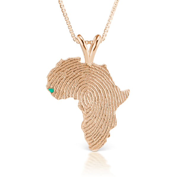 Guinea-Bissau Heirloom Pendant - 14K Rose Gold 43mm