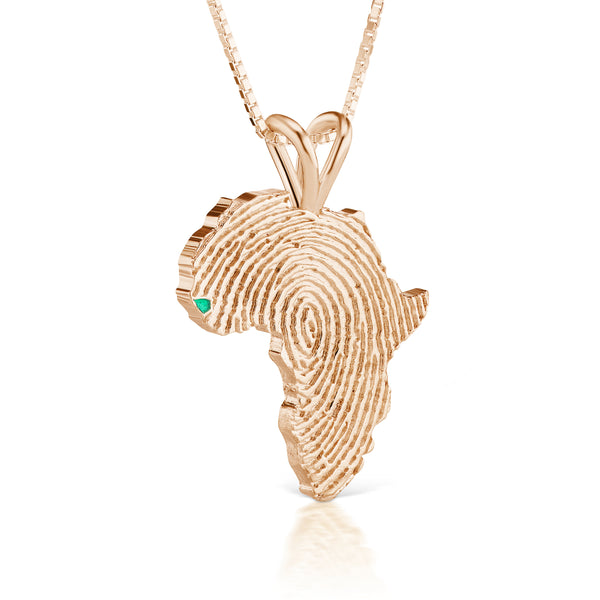 Guinea-Bissau Heirloom Pendant - 14K Rose Gold 34mm