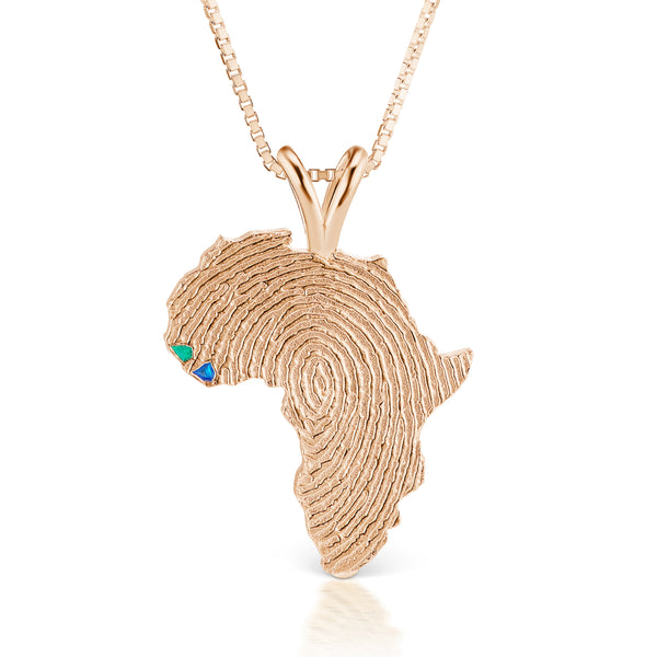 Guinea-Bissau and Sierra Leone Heirloom Pendant - 14K Rose Gold 34mm