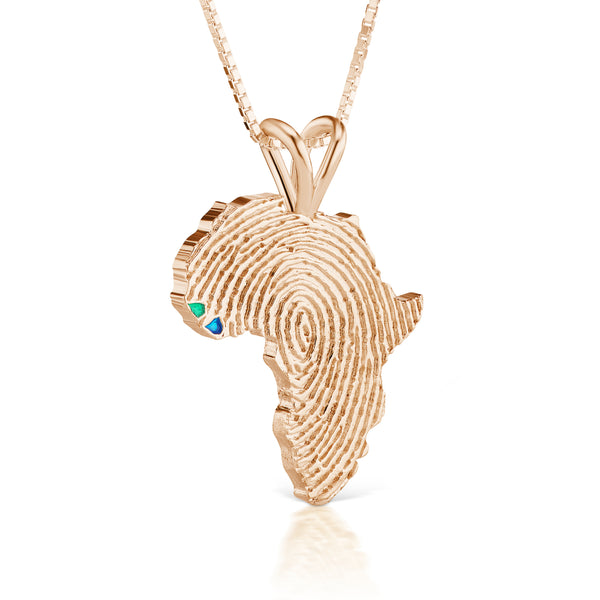 Guinea-Bissau and Sierra Leone Heirloom Pendant - 14K Rose Gold 43mm