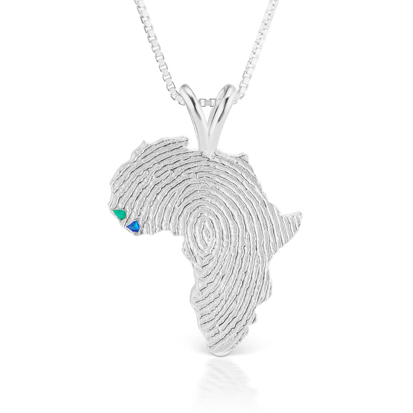 Guinea-Bissau and Sierra Leone Heirloom Pendant - Silver 34mm
