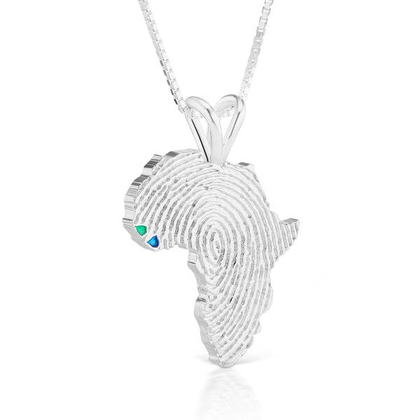 Guinea-Bissau and Sierra Leone Heirloom Pendant - Silver 43mm