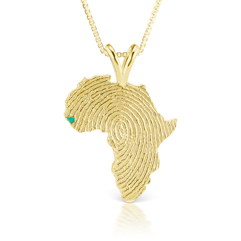Guinea-Bissau Heirloom Pendant - 14K Yellow Gold 43mm