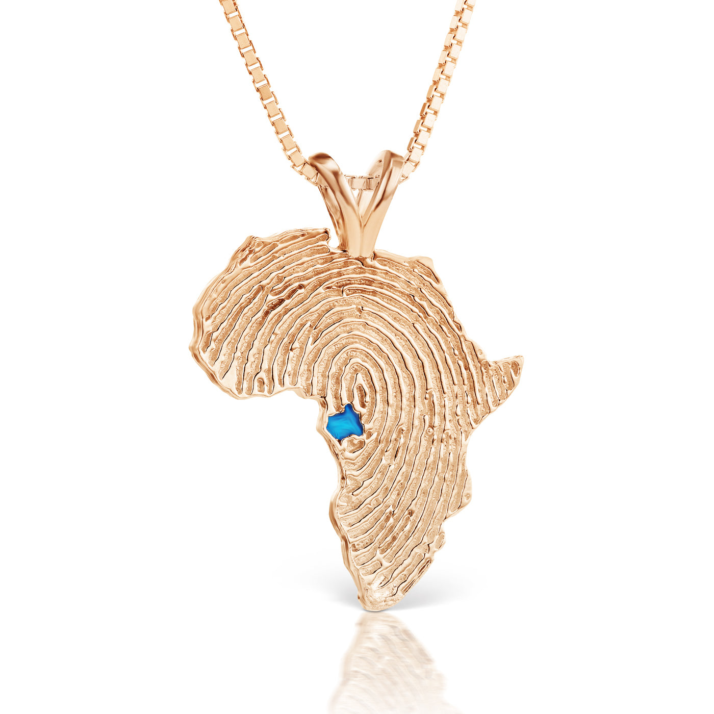 Gabon Heirloom Pendant - 14K Rose Gold 43mm