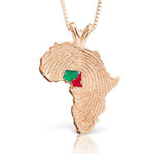 Nigeria and Cameroon Heirloom Pendant - 14K Rose Gold 34mm