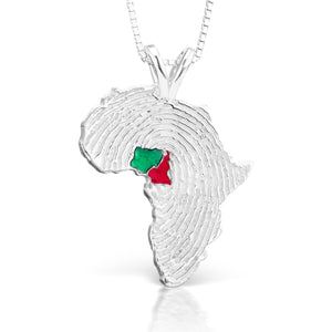 Nigeria and Cameroon Heirloom Pendant - Sterling Silver 34mm