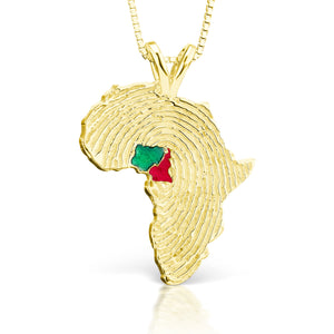 Nigeria and Cameroon Heirloom Pendant - 14K Yellow Gold 34mm