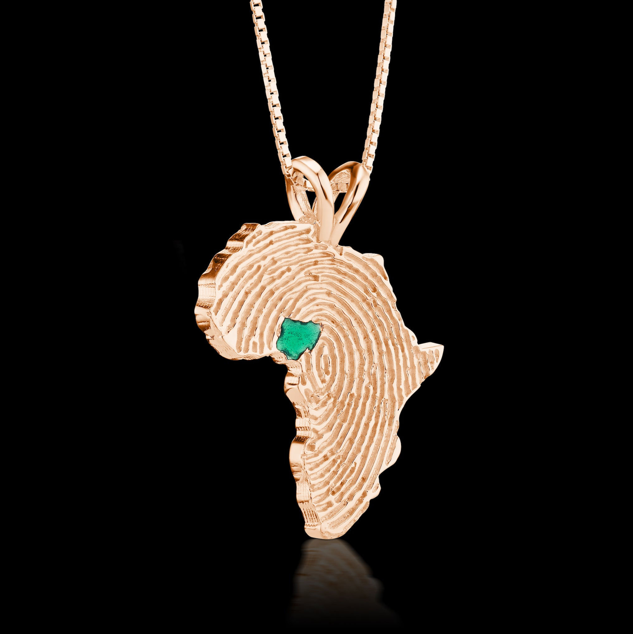 Nigeria Heirloom Pendant - 14K Rose Gold 43mm