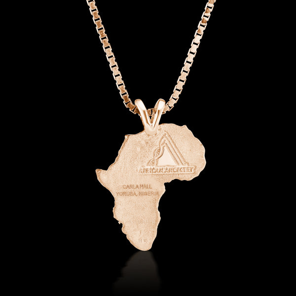 Nigeria Heirloom Pendant - 14K Rose Gold 34mm