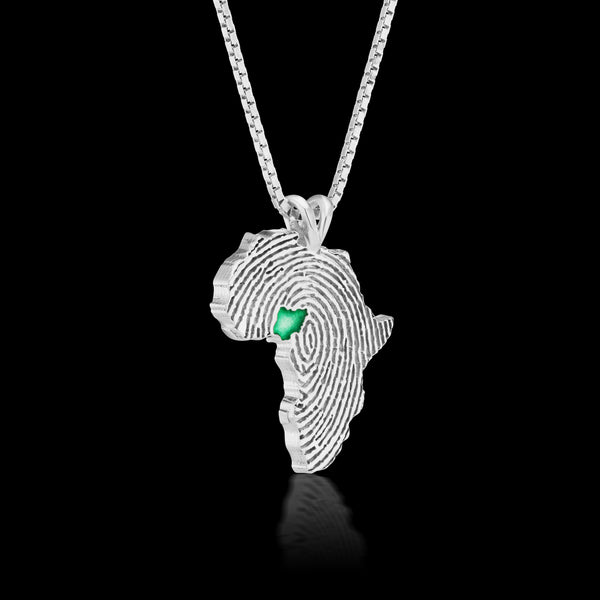 Nigeria Heirloom Pendant - Sterling Silver 34mm
