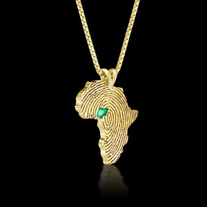 Nigeria Heirloom Pendant - 14K Yellow Gold 34mm