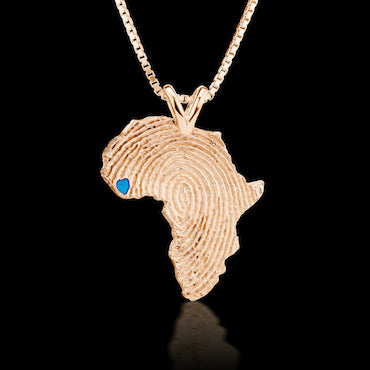 Sierra Leone Heirloom Pendant -  14K Rose Gold 34mm
