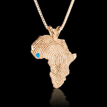 Sierra Leone Heirloom Pendant -  14K Rose Gold 43mm