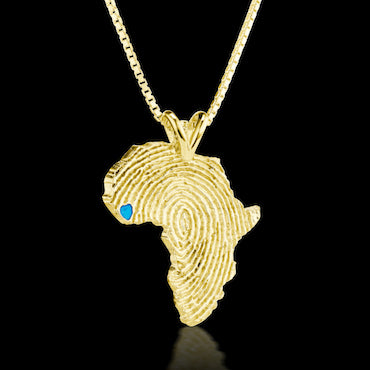 Sierra Leone Heirloom Pendant -  14K Yellow Gold 43mm