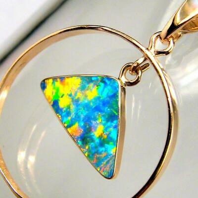 Australian Opal Pendant 14kt Rose Gold Natural Jewelry 7.9ct Gift Gemstone B17