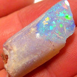 22ct Rare Australian Opal Fossil Belemnite Pipe Specimen Top Color Crystal #A68