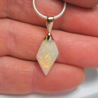 Pink Gold Precious Opal Pendant Genuine Natural Australian Solid Opal Pendant Gem Gift 3.7ct 14k #851