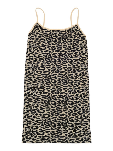 tan black leopard animal print stretch cami top for women