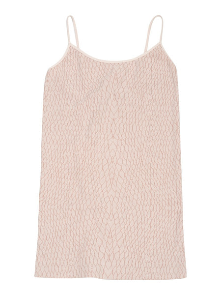blush sand light snake print camisole top