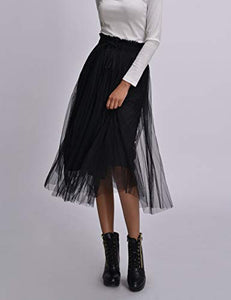 Romantic Interlude Midi Tulle Skirt - cactus + olives