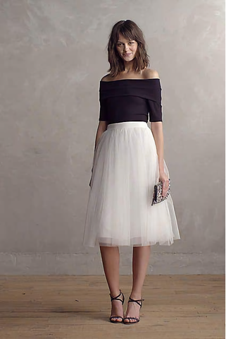 Meet Me During Intermission Midi Tulle Skirt - cactus + olives