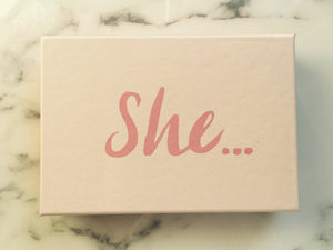 She ... Boxed Note Cards - cactus + olives