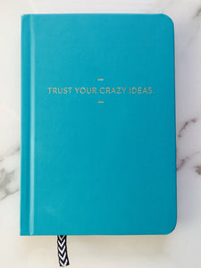 Trust Your Crazy Ideas Journal - cactus + olives