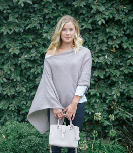 I Think I'm in Love Italian Cashmere Poncho Wrap - cactus + olives