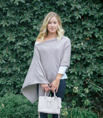 I Think I'm in Love Italian Cashmere Poncho - cactus + olives