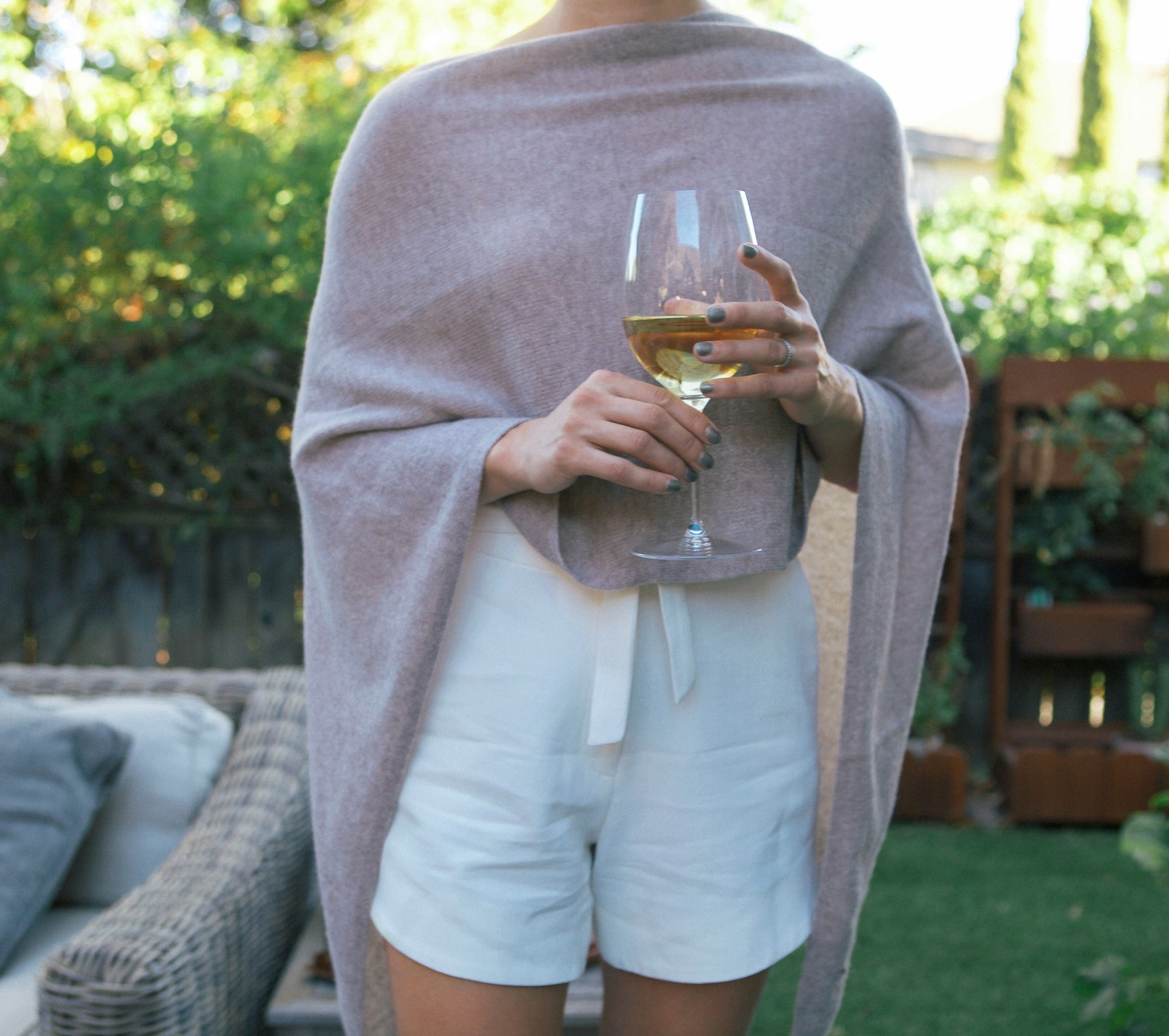 I Think I'm in Love 5 Way Italian Cashmere Ruana Wrap