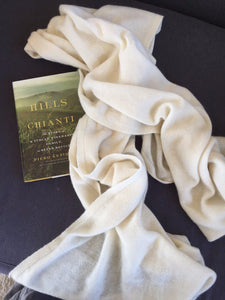 Pure Cashmere Wrap from Italy - cactus + olives