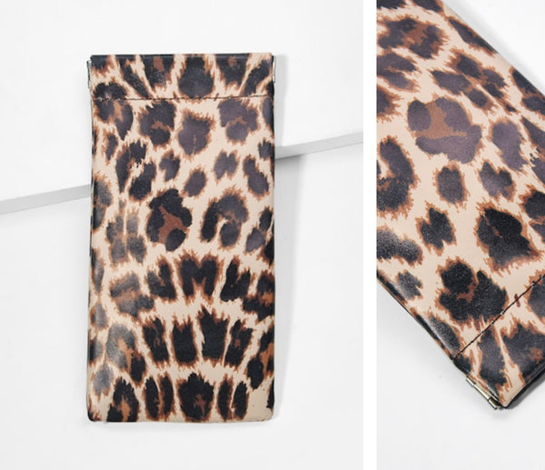 Animal Print Eyeglass Sunglass Case - 2 patterns - cactus + olives