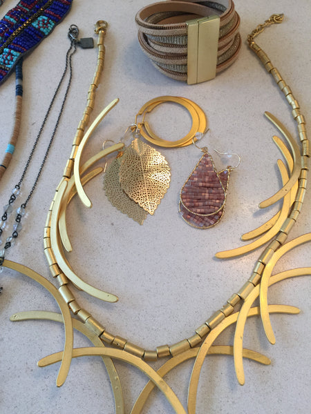 Fun and glam gold toned jewelry for women