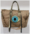 Evil Eye Tote Bag - Natural - cactus + olives