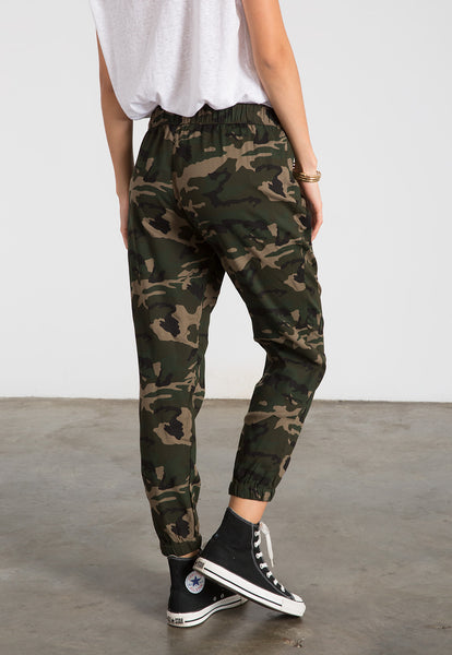 camoflauge lounge pants with drawstring