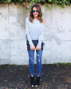 "The ""Cozy Up"" Off the Shoulder Ribbed Knit Top - cactus + olives"