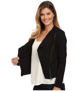 Two by Vince Camuto Knit Moto Jacket - cactus + olives